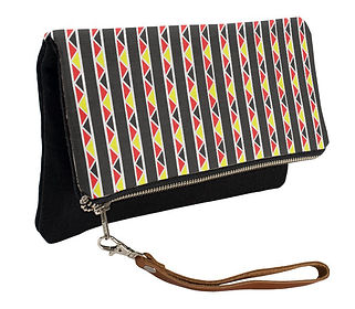 kente stripes fold over clutch purse (3)