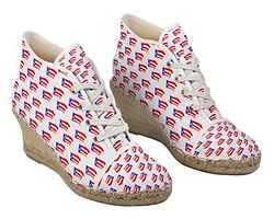 puerto rican flags white wedge espadrill