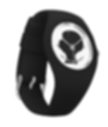 black silhouette black silicone watch.pn