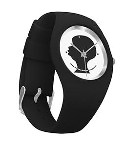 black silhouette black silicone watch.pn