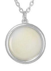 drop of cream round  silver necklaces (2