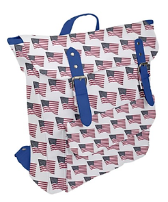 flapping american flag buckle up bbackpa