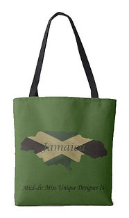 jamaican flag outine map tote .jpg