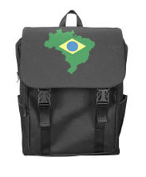 brazil flag outline shoulders backpack (