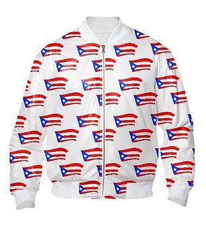 puerto rican flags white bomber jacket.j