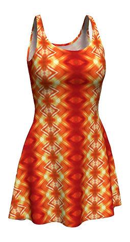 orange flower diamonds flare-dress.jpg