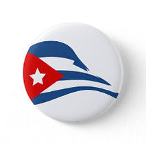 cuban flapping flag round button pin (1)