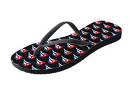 cuban flapping flags black flip flops (1