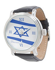 jewish star black leather watch post.jpg