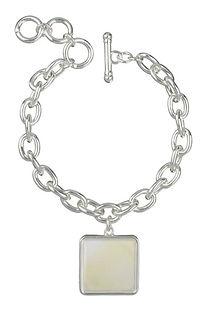 drop of cream square charm bracelet (1).