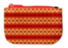 orange flower diamond oblong coin purse.