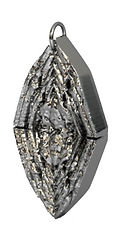feather flap pendant fine polishd silver