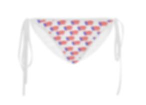 puerto rican flags white bikini bottom (
