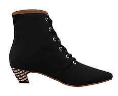 kente pointed toe low heel booties (3).p