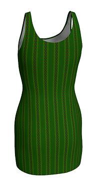 african diagonal green flowers mni dress