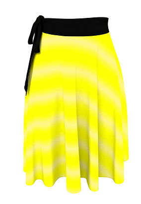 bright yellow fade white lines wrap skirt (        xccccccccccc2).jpg