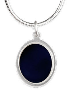 mid nite sapphire oval silver necklace.j