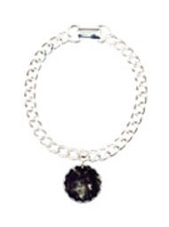 Purple Smoke Globe Charm Bracelet, One C