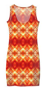 orange diamond flowers mini dress (1).jp