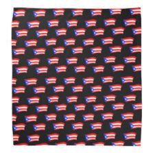 puerto rican flags black thicker bandana