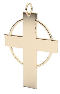 hallow circle cross pendant 14k ygt.jpg