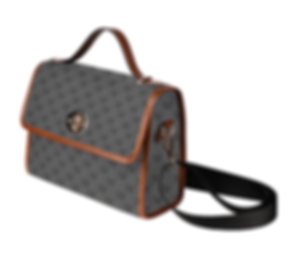 mud-di signature smoky gray canvas bag (