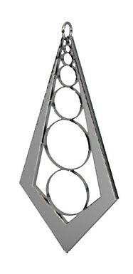 arched circles pendant polished silver.j
