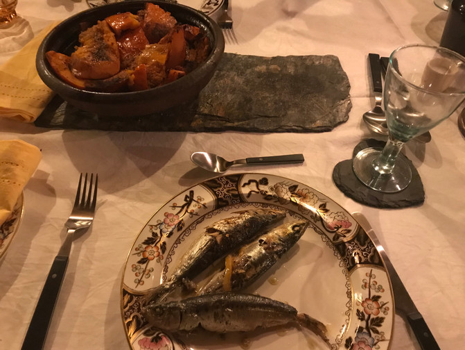 Grilled Sardines Lunch