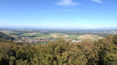Panorama depuis la Tour du Rossberg