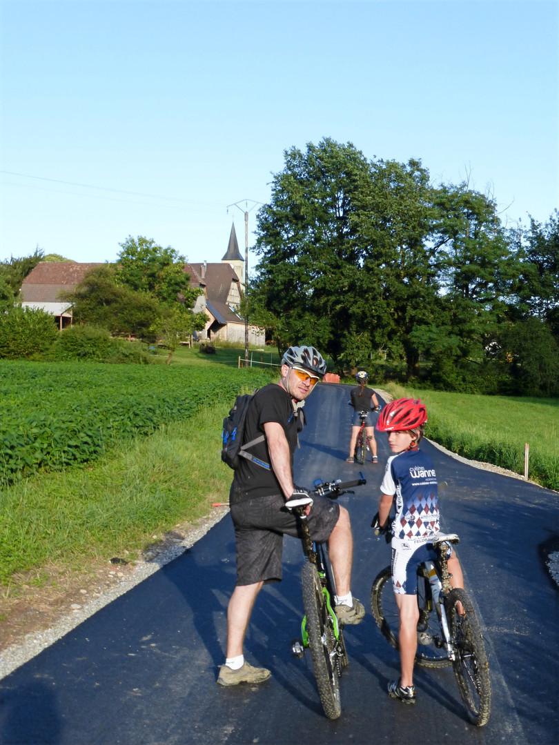 La piste cyclable à Bettendorf