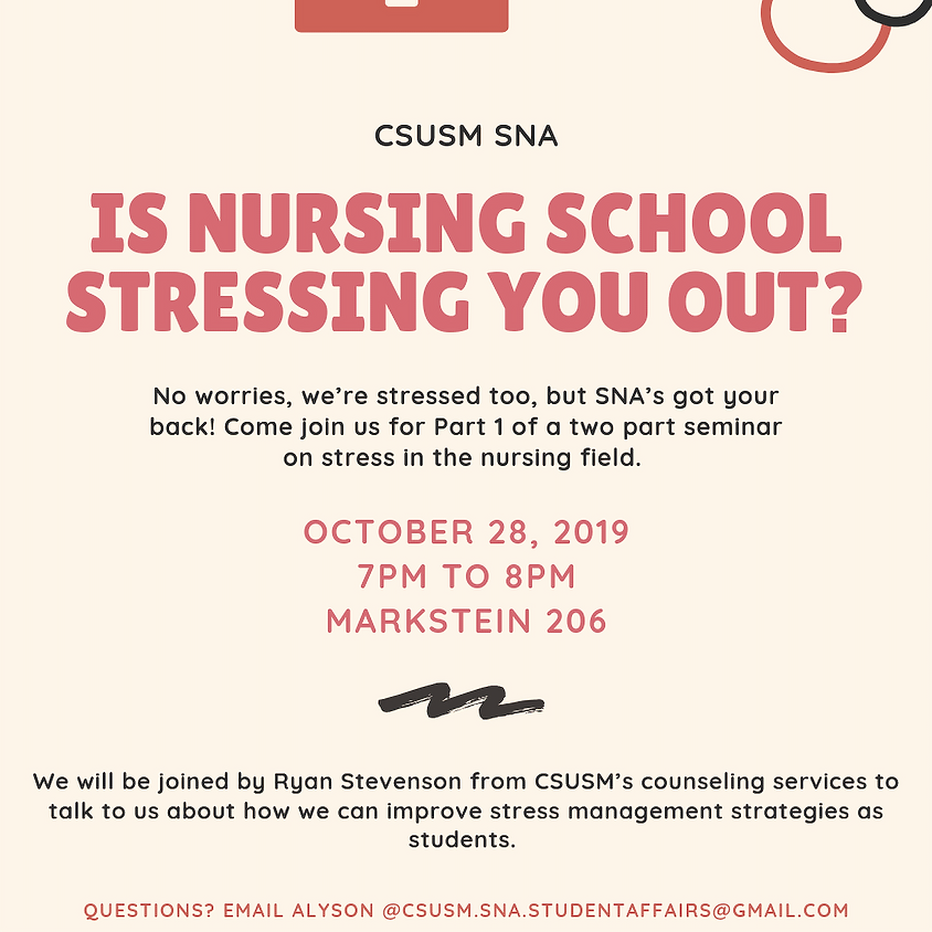 Stress in the Nursing Field: Part 1 - Stress Management for Nursing Students