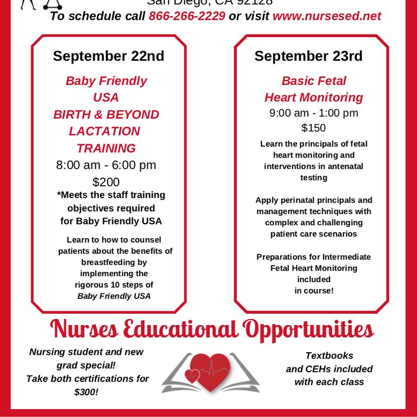 Birth & Beyond Lactation Training/ Basic Fetal Heart Monitoring Course