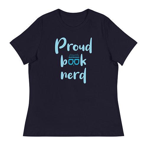 Women's Relaxed T-Shirt-Proud Book Nerd