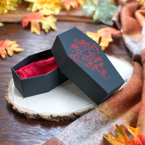 Bookish Coffin Storage Box