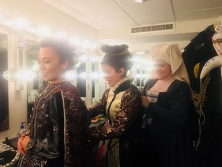 Shakespeare in Love backstage!
