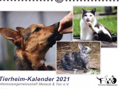 Tierheimkalender 2021 - Leider bereits ausverkauft! Wir bedanken uns für das große Interesse!