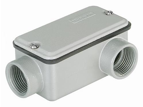 Condulete Alumínio – Conexão Fixa Simples c/ Rosca BSP c/ Tampa e Vedação