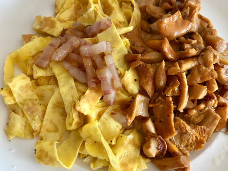 """Tagliatelle"" with Bacon and Chanterelle"