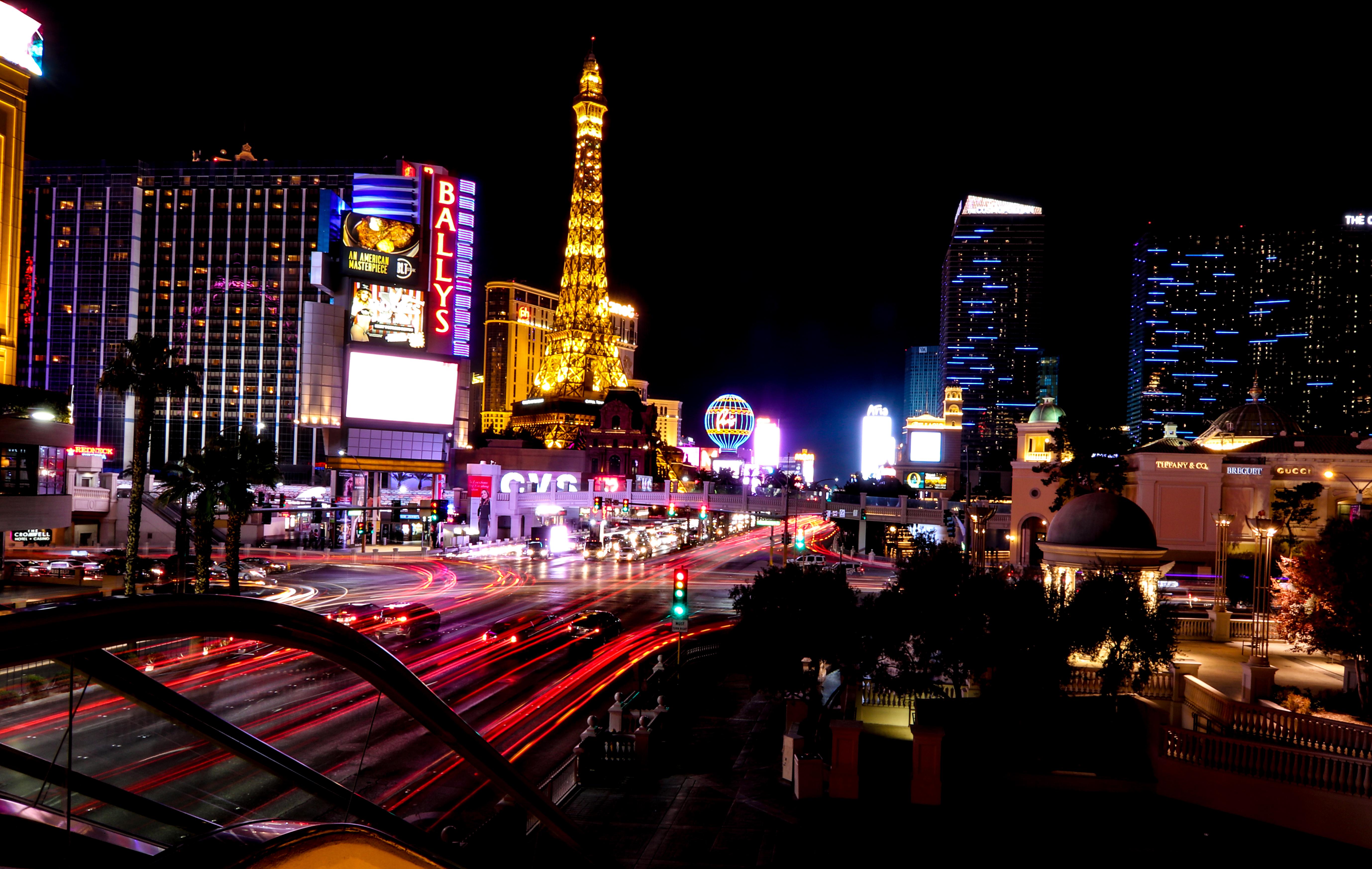 Las Vegas light trails.