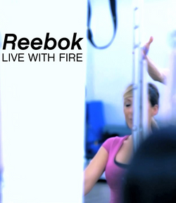 Reebok live with fire advert