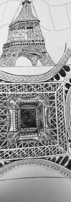 Dimensional Study of Eiffel Tower