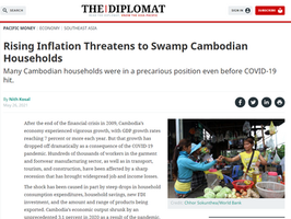 """Commentary: """"Rising Inflation Threatens to Swamp Cambodian Households"""""""