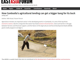 """Op-Ed: """"How Cambodia's agricultural lending can get a bigger bang for its buck"""""""