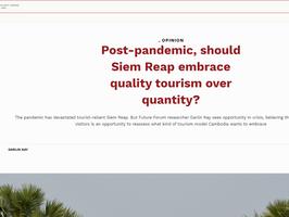 """Op-Ed: """"Post-pandemic, should Siem Reap embrace quality tourism over quantity?"""""""