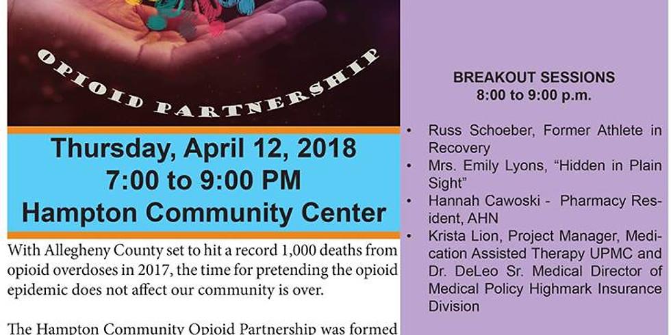 Opioid Epidemic Summit:  Hampton Township (FREE PUBLIC EVENT)