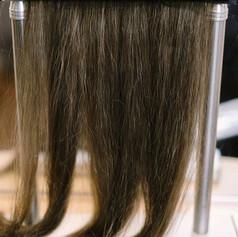 Suporte com cabelos