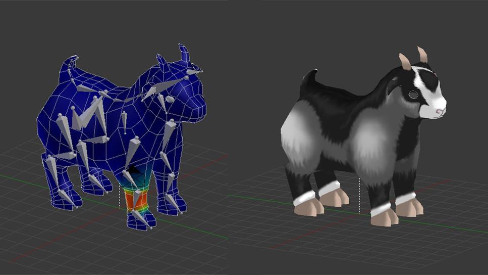 3D Ziegenmodel