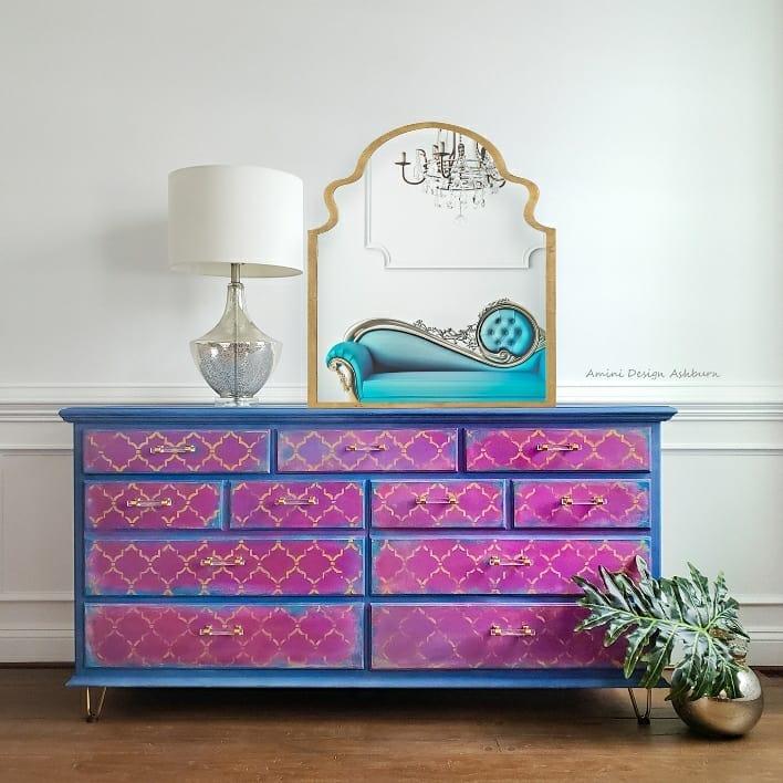 Quatrefoil Boho Dresser