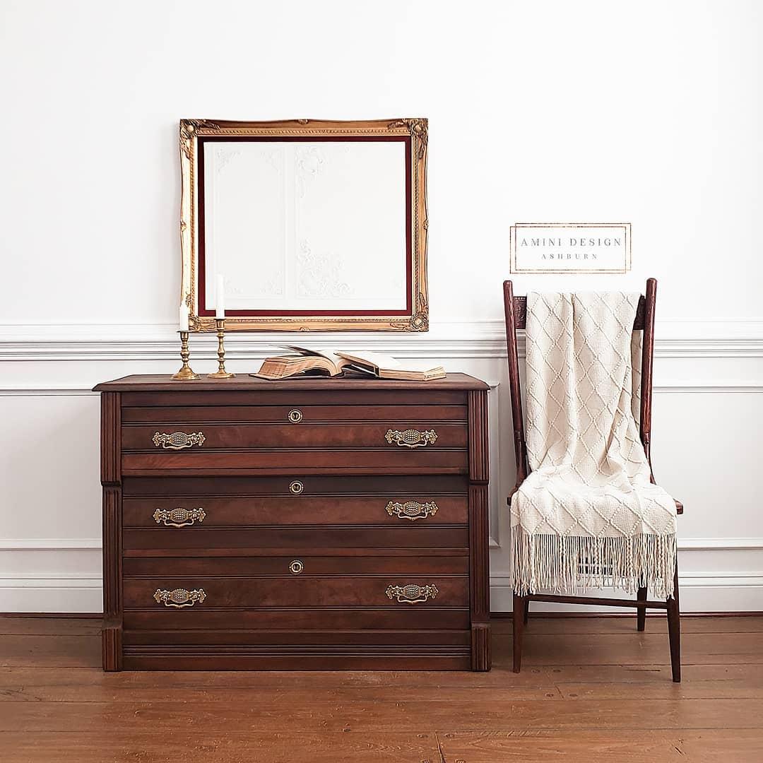 Walnut Eastlake Dresser