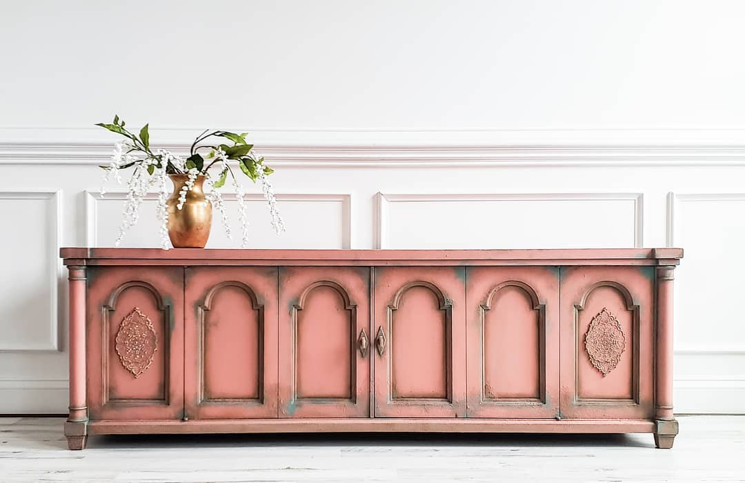 Pink Moroccan Style Console Table